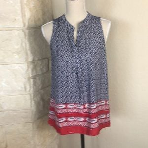 Red white and blue sleeveless top